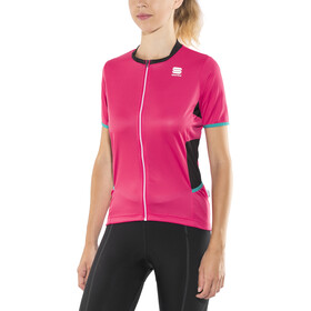 Sportful Luna Jersey Damen pink coral/black